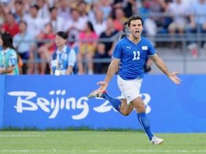 Giuseppe Rossi sous le maillot de la Squadra...