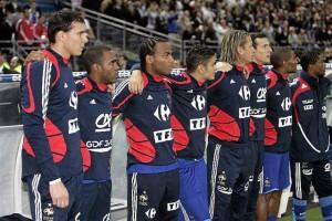 Yohann Pelé tout à gauche avec les Bleus