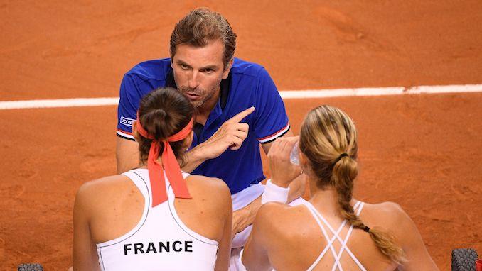 Tennis - Fed Cup semi final - France vs Romania